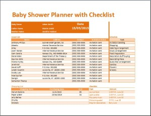 Kt's Baby Shower Planner with Checklist