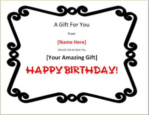 Colorful Birthday Gift Certificate Template