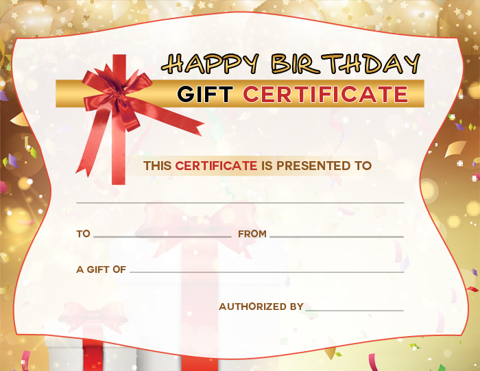 free certificate - Free Birthday Gift Certificate Template