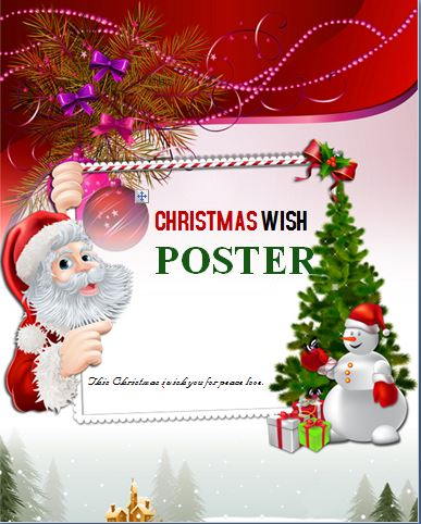 Colorful Christmas Wish Poster Template