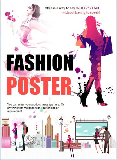 Modern Professional Fashion Poster Template | Word & Excel Templates