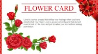 Best Wishes Flower Card Gift Template