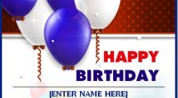 Happy Birthday Wishing Card Template