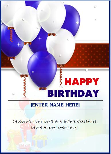 happy birthday wishing card  u2013 word  u0026 excel templates