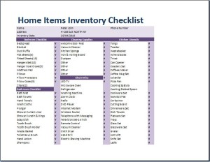 Comprehensive Home Inventory Checklist