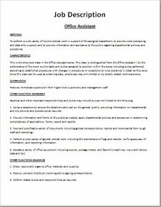 Comprehensive Job Description Template