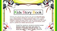 Kids Story Writing Book Template