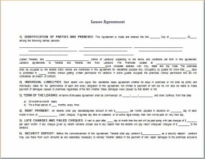 Fully prepared Lease Agreement Template