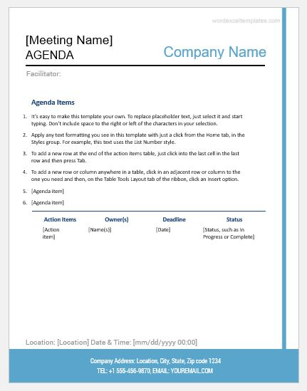formal meeting minutes template word excel templates