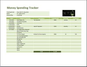 Comprehensive Money Spending Tracker