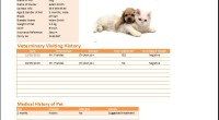 MS Excel Pet Health Record Table Template