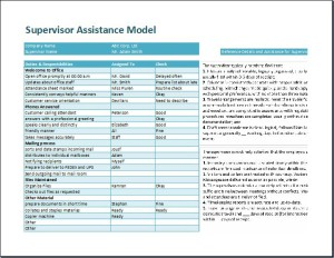 Supervisor Assistance Model Template