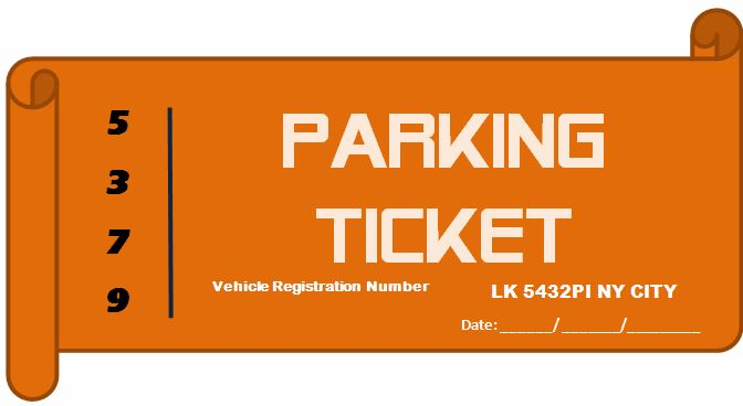 Professional Design Parking Ticket Template | Word & Excel Templates
