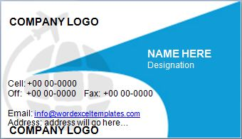 Travel business card template word excel templates travel business card template accmission Image collections