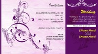 Professionally Design Wedding Invitation Card Template