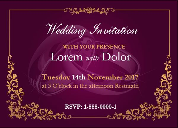 wedding invitation card template for ms word - Invitation Card