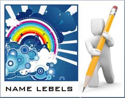 Formal Design Name Labels