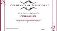 Word Achievement Award Certificate