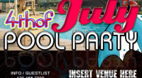 4th of July Pool Party Flyer