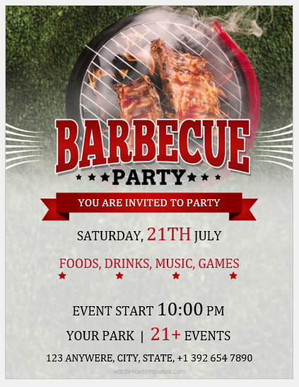 BBQ party flyer MS Word