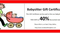 Babysitter Gift Certificate Template