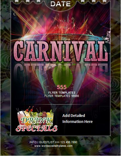 ms word carnival flyer template word excel templates