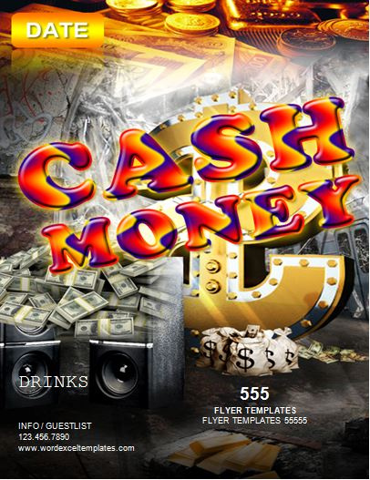 Cash Money Event Flyer