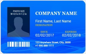 Photo ID Badge Template for MS Word