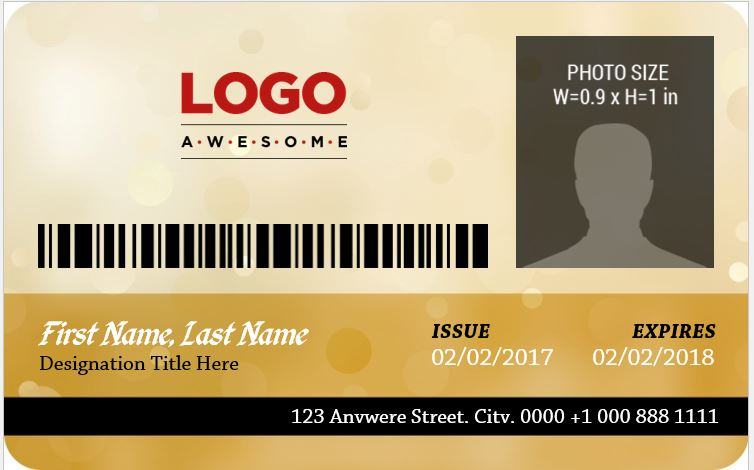 MS Word Photo ID Badge Sample Template Word Excel Templates - Ring security badge template