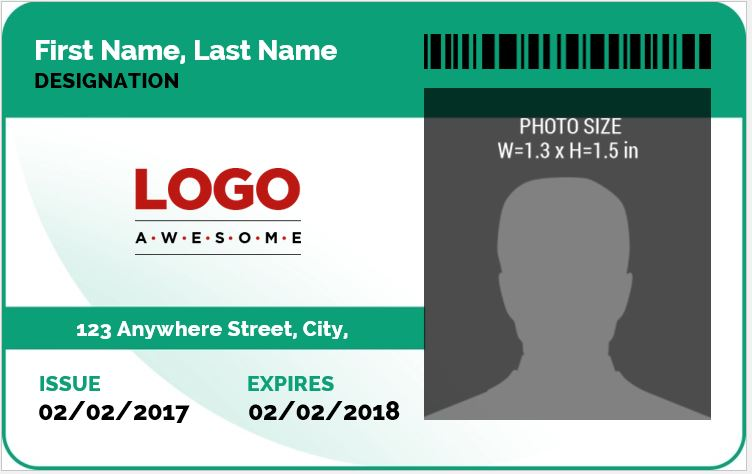 MS Word Photo ID Badge Sample Template Word Excel Templates - Visitor badge template