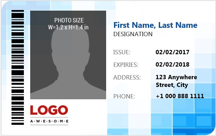 Ms word photo id badge sample template word excel for Name badges templates microsoft word