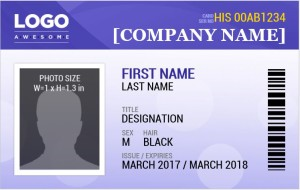 Photo ID Badge Template