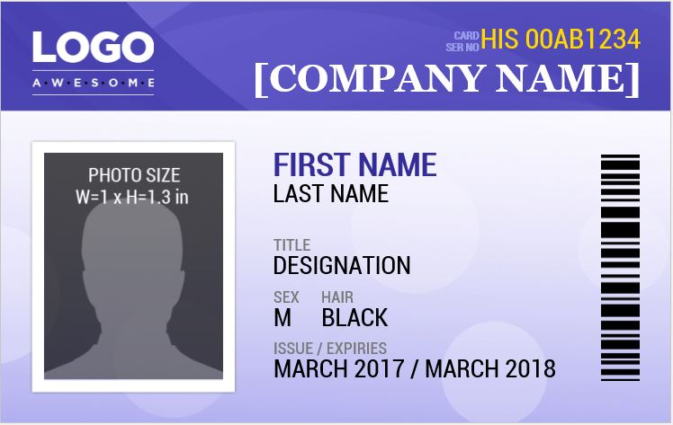 MS word Photo ID Badge Sample Template : Word u0026 Excel Templates