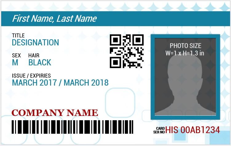 Ms Word Photo Id Badge Sample Template | Word & Excel Templates