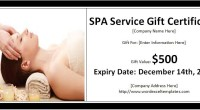SPA Services Gift Certificate Template