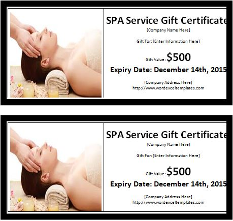 Ms word spa services gift certificate template word excel spa services gift certificate template yelopaper Image collections