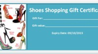Shoes Shopping Gift Certificate Template