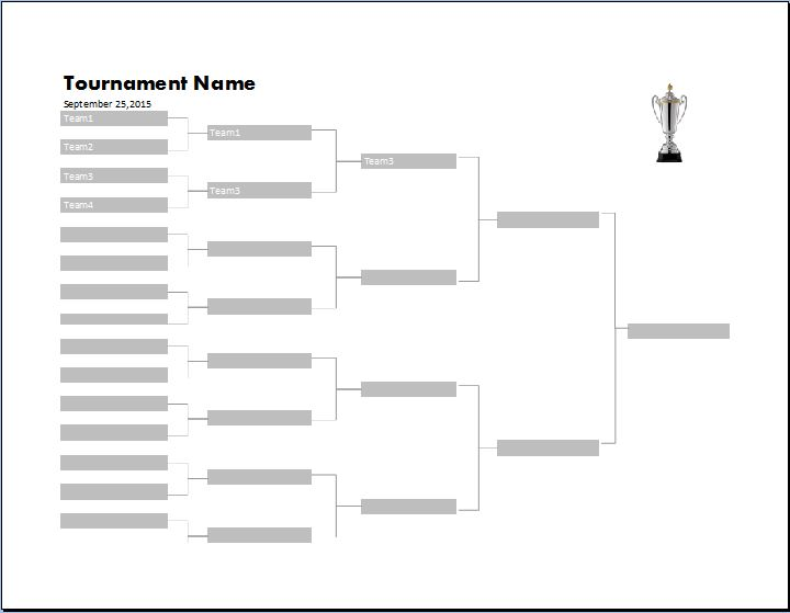 Tournament Bracket Template