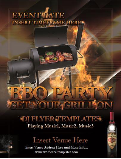 Backyard BBQ party flyer
