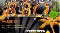 Beach Barbecue BBQ Party Flyer Template