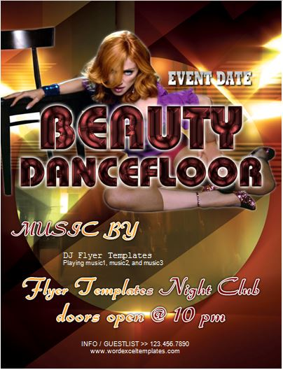 Beauty Dance floor Party Flyer