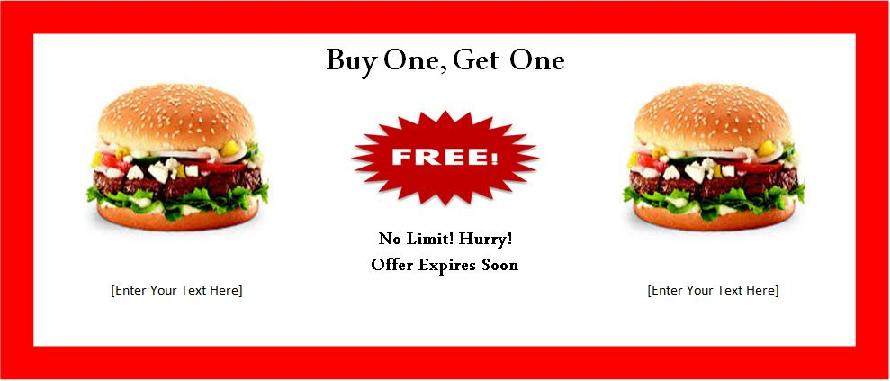Buy 1 Get 1 Free Gift Certificate