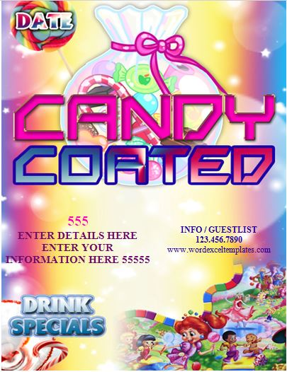 Candy Coated Club Flyer Template