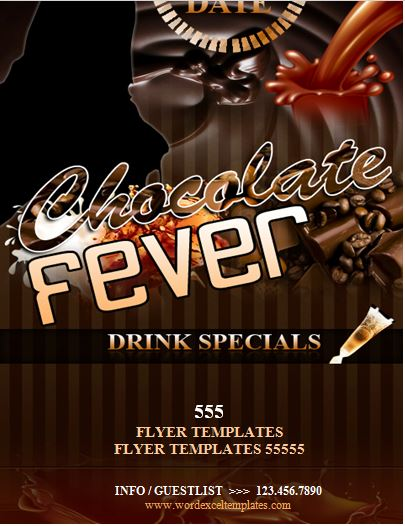 Chocolate Fever Night Club Flyer Word Amp Excel Templates