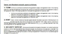Rental Agreement Form Template