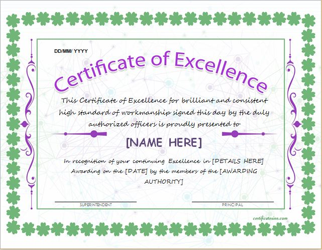Scholarship Award Certificate Template  Word  Excel Templates
