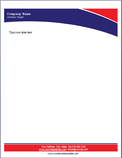 MS Word Business Letterhead Templates – Letterhead Format in Word