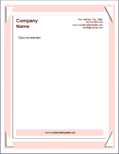 Ms Word Business Letterhead Templates Word Amp Excel Templates