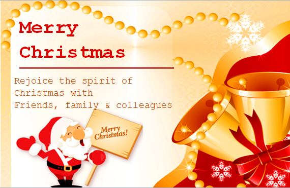 MS Word Colorful Christmas Card Templates | Word & Excel ...