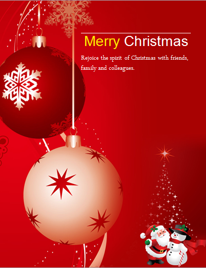 MS Word Colorful Christmas Flyer Templates – Christmas Poster Template